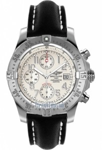 Watch face close up for Breitling Avenger