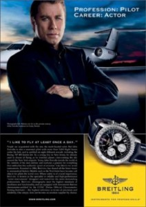 John Travolta advertising for Breitling